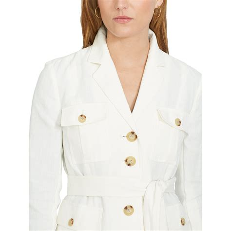 Safari Jacket White ralph linen safari jacket in white lyst
