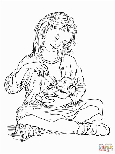 Charlottes Web Coloring Pages   Garth williams