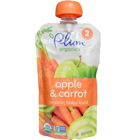 Plum Baby Organic Superfoods plum organics organic baby food stage 2 apple carrot