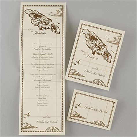 treasure map wedding invitations jamaica treasure map ecru z fold inv invitations by