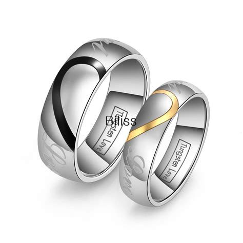 Matching Him And Lover S Matching Tungsten Carbide Promise