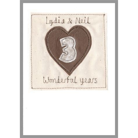 Personalised Wedding Anniversary Cards Uk by Personalised Leather Wedding Anniversary Card By Milly And