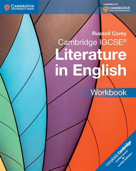 cambridge igcse literature in 0521136105 cambridge igcse literature in english workbookrussell carey the igcse bookshop