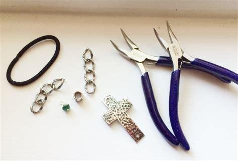 materials needed for jewelry handmade jewelry cross bracelet tutorial