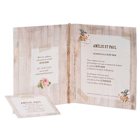 einladungskarten holzoptik einladungskarte in rustikaler holzoptik und einlegekarte