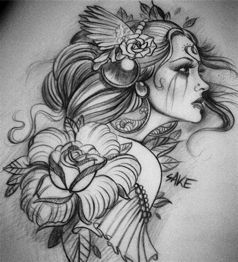 pin up girl tattoo designs beautiful pin up design