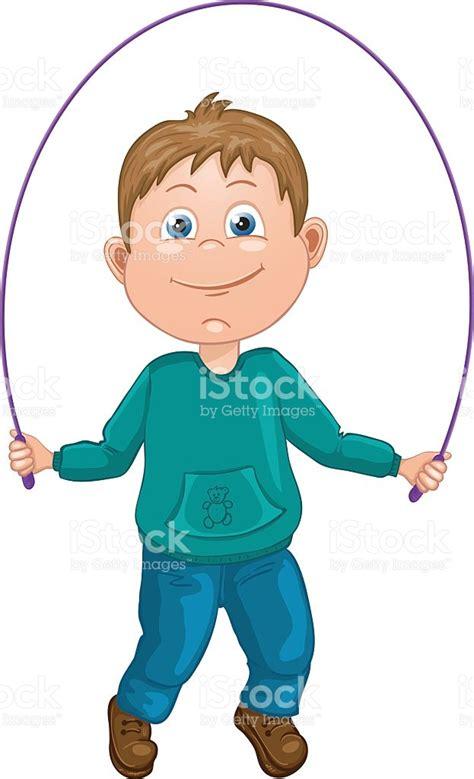 imagenes niños saltando la cuerda ilustraci 243 n dibujo animado de un ni 241 o saltar a la cuerda