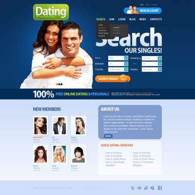 Dating Website Templates Dating Website Template