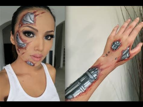 fx tutorial makeup terminator sfx make up tutorial youtube