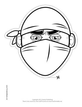 printable ninja mask printable bandana ninja mask to color mask