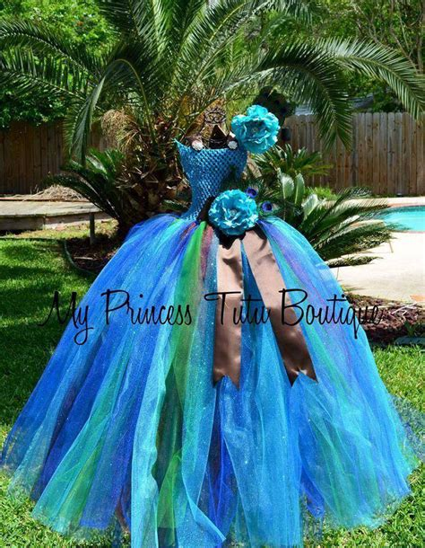 Peacock Flower peacock tutu dress peacock flower dress peacock theme