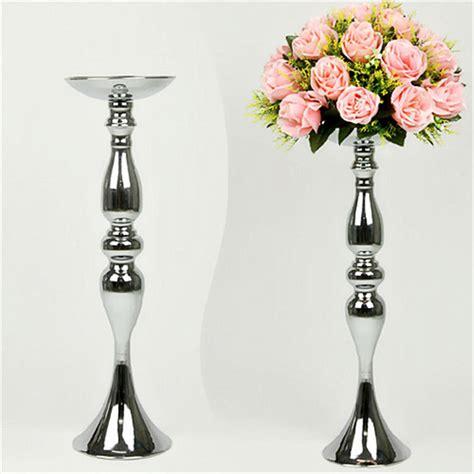 Vase Stand Decor Vase Flower Vase Silver Metal Candle Holders 50cm 20 Stand Flowers Vase