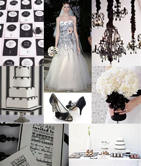 black and white wedding theme moody monday the wedding