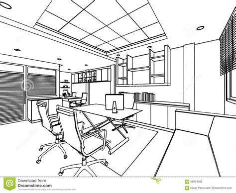 casa class 1 medical outline sketch of a interior stock illustration
