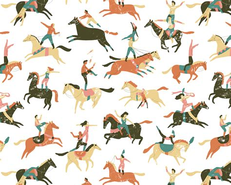 pattern horse friday round up repeating patterns making your own