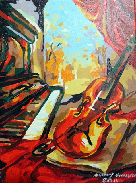 acrylic painting images piano and violin acrylic painting by gravadrey on deviantart
