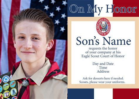 eagle scout invitation template eagle scout court of honor ideas and free printables