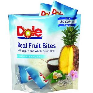free pouch of dole real fruit bites from self magazine at