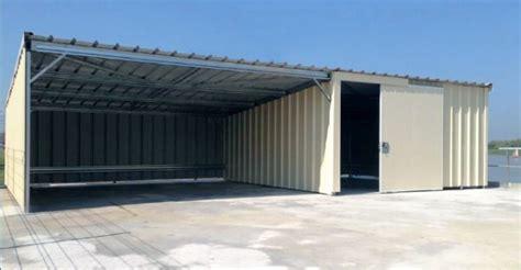 Garage Metallique En Kit 5918 by Garages M 233 Talliques Simple Avec Auvent 224 Vous