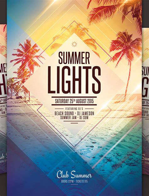 24 Amazing Psd Beach Party Flyer Templates Designs Free Premium Templates Summer Flyer Templates