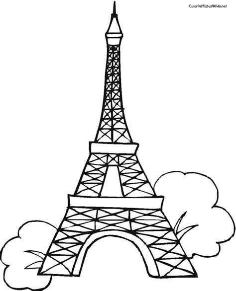 printable coloring page of eiffel tower eiffel tower coloring pages eiffel tower coloring pages