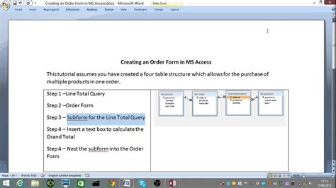 Ms How To Order how to make an order form using ms access 2013