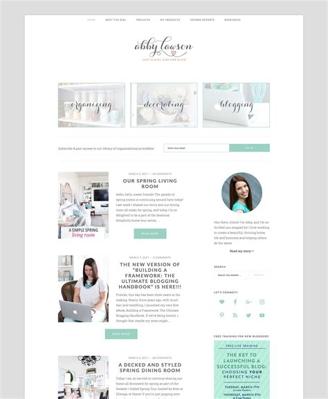 home decorating blog sites how to design your blog home page for focus and clarity