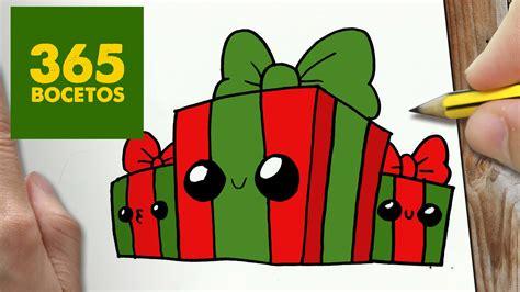 imagenes animadas de regalos de navidad como dibujar regalos navidad kawaii paso a paso dibujos