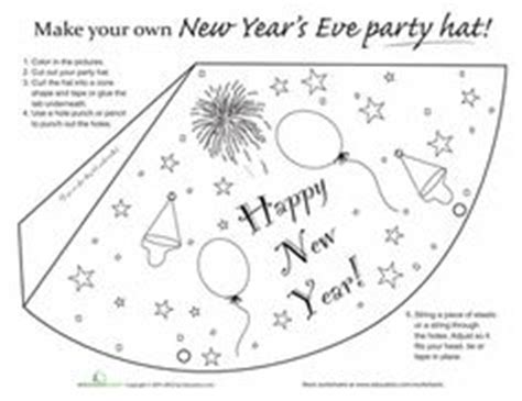 new years hat template worksheets new year s and coloring pages on
