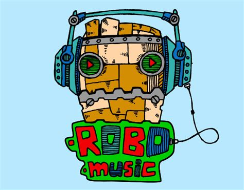 robots music colored page robot music painted by bigricxi
