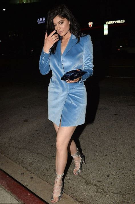 light blue suede dress dress blazer dress jenner sandals kardashians
