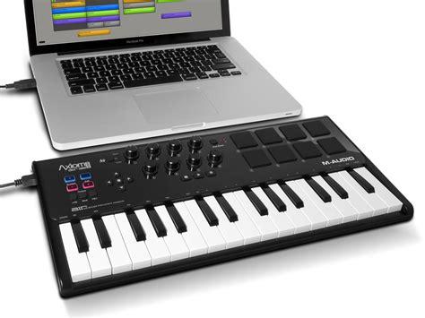 Keyboard Controller axiom air mini 32 ultra portable 32 key usb midi keyboard controller co uk musical