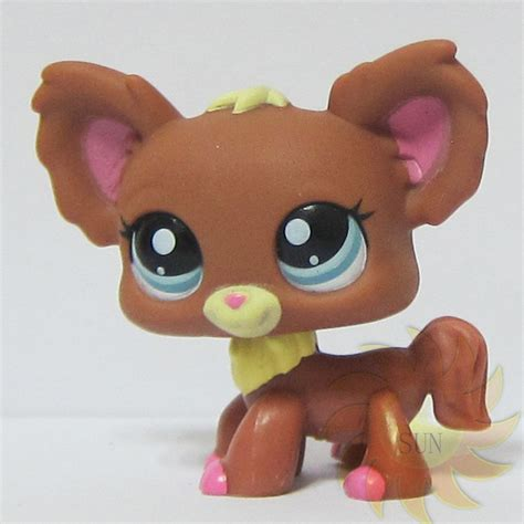 littlest pet shop lps animal loose toy 1623 chien