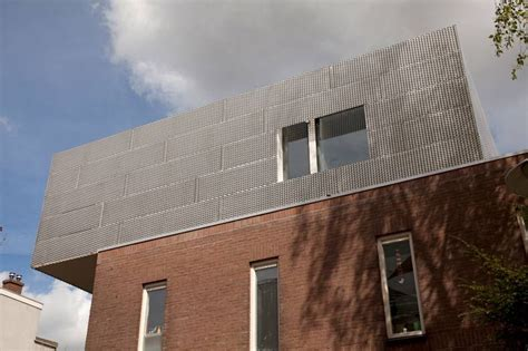 modern townhouse extension aluminum expanded metal