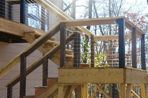 Banister Railing Installation Diy Feeny Cable Rail Installation Project