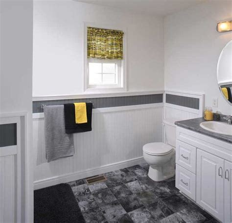 bathroom wainscoting panels supreme wainscot contemporary bathroom cleveland