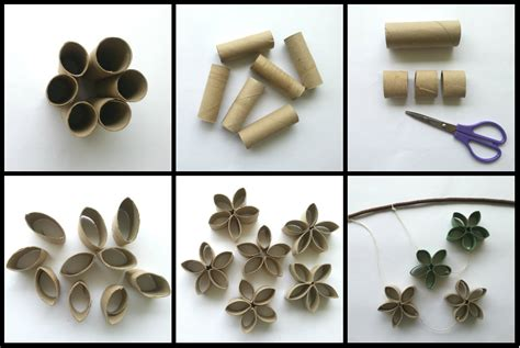 How To Make Paper Rolls - glastel diy tissue roll flower mobile