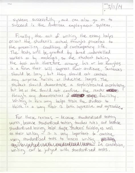 5 Paragraph Essay Sle by Can Writing Be Assessed A Five Paragraph Essay