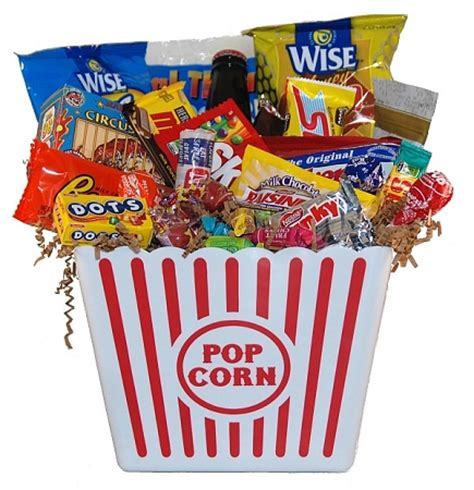 night junk food bucket gift baskets  delivery