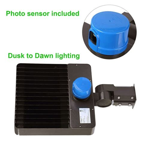 led light with photocell led parking lot pole lights with photocell sensor chiuer