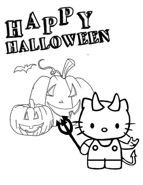 hello kitty pumpkin coloring page hello kitty jack lantern halloween coloring page h m