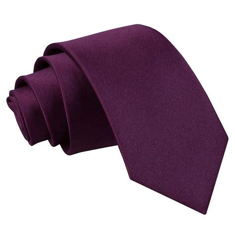 s plain plum slim tie