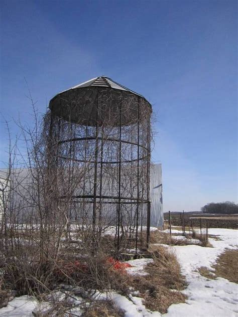 Metal Corn Crib by Vintage Corn Crib Grainery Building Grain Bin Corn