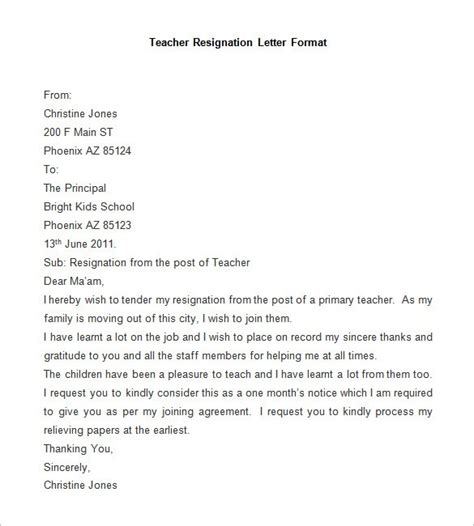 Resignation Letter Format Xls how to write resignation letter in language cover