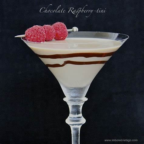 martini dessert chocolate raspberry tini
