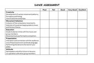 dance rubric middle