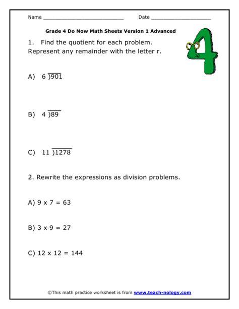 Math Worksheets Grade 4 Division by Division Worksheets Memes