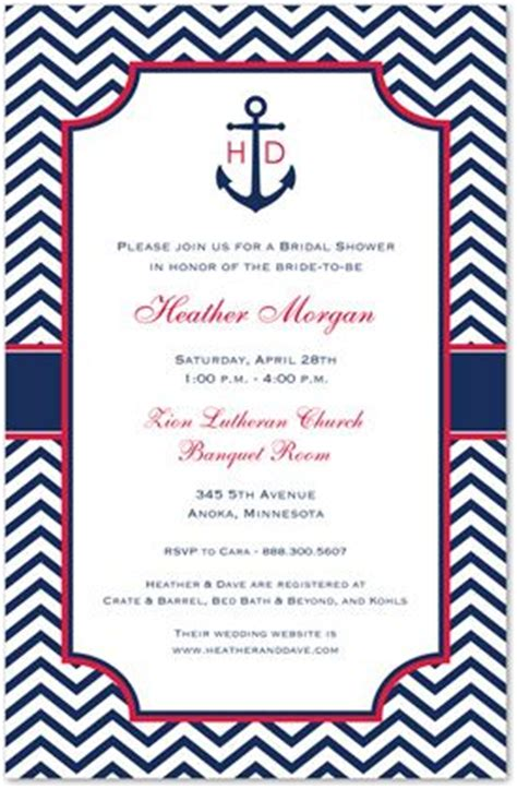 30 Best Images About Couple Shower Invitations On Pinterest Stationery Couples Bridal Showers Anchor Wedding Invitation Templates