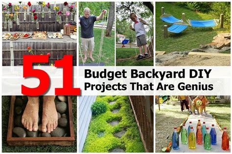 Diy Ideas For Backyard Diy Backyard Projects On A Budget Outdoor Furniture Design And Ideas