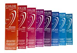 ion semi permanent hair color chart ion color brilliance brights semi permanent hair color